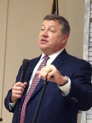Rep. Bill Shuster spoke on Oct. 20, 2016, at the monthly