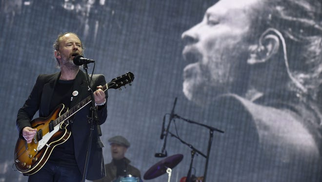 Radiohead headline on the main Stage at the TRNSMT music Festival on Glasgow Green, in Glasgow on July 7, 2017.