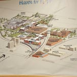 Part of the Haven for Hope campus in San Antonio in January. The campus provides comprehensive detox, mental health treatment and educational services for individuals experiencing homelessness, a mental health emergency or substance abuse problem.