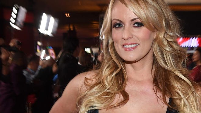 Adult film actress Stormy Daniels attends the 2018 Adult Video News Awards at the Hard Rock Hotel & Casino on Jan. 27 in Las Vegas.