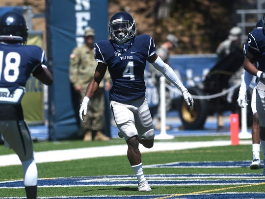 EJ Muhammad (4) is Nevada's most experienced cornerback.