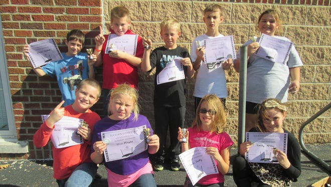 Fifth grade students at Buckskin Elementary School recently competed in a double elimination volleyball tournament during lunch recess. The championship team had to defeat the runners up in a second match to win the tournament. Team Two received the championship title. The students are Zoei Crabtree (team captain), Bryson Badgley, Shayna Beatty, Clayton Howland, Emily McVay, Isaac Carroll, Eliza Mongold, Landan Pointer, Andrew Surritt and Parker Chaney.