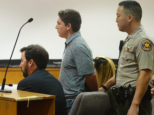 Kevin Hogrefe, standing, was found guilty of second-degree