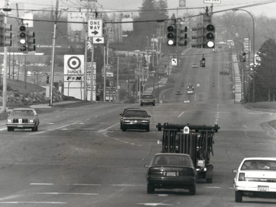 The Beckley Road corridor captured in this undated