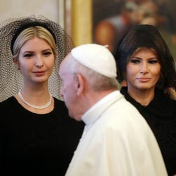 Why Melania, Ivanka Trump wore veils and all black to meet the pope