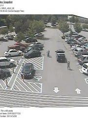 Walmart parking lot at 4040 Nolensville Pike.