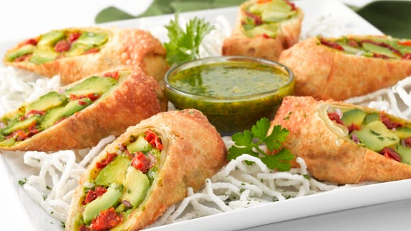 The avocado eggrolls at The Cheesecake Factory is just one example of the restaurant's eclectic offerings.