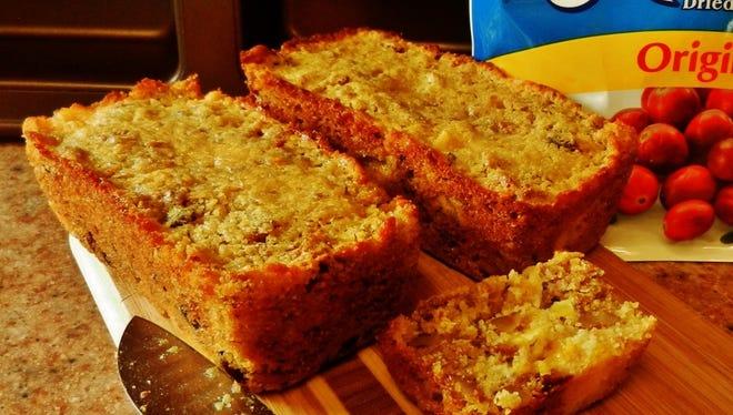 The happy baker's orange cranberry bran bread.