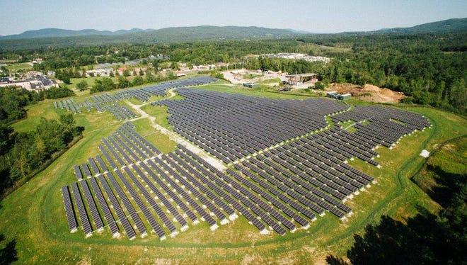 Green Mountain Power's Stafford Hill Solar Farm in Rutland.