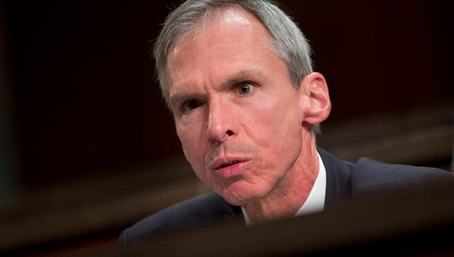 In this April 14, 2016 file photo Rep. Dan Lipinski, D-Ill. speaks on Capitol Hill in Washington. Lipinski will face Democratic candidate Marie Newman for the 3rd congressional district seat in the March 20, 2018 primary.