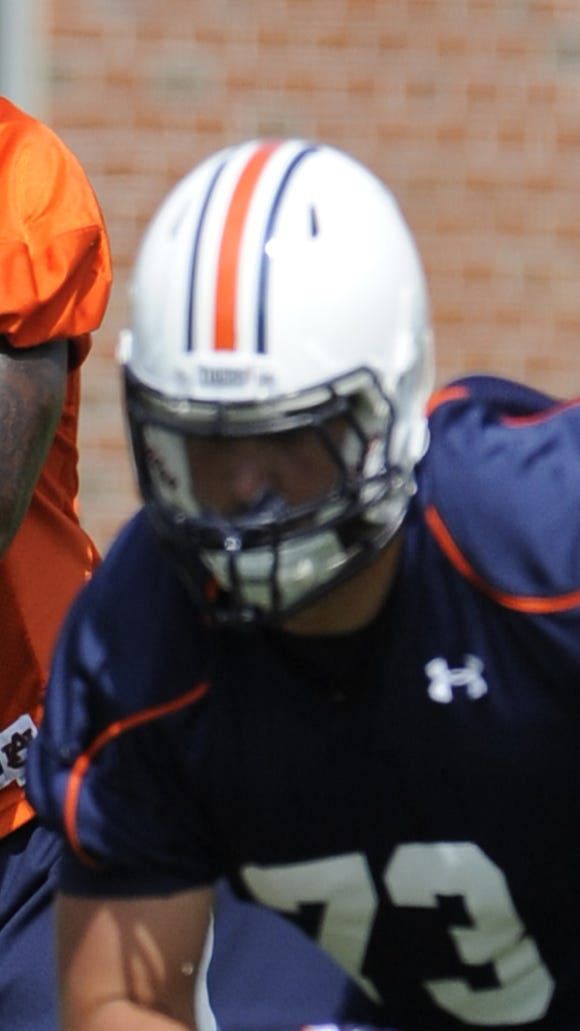 Offensive tackle Austin Golson is contributing on Auburn's scout team.
