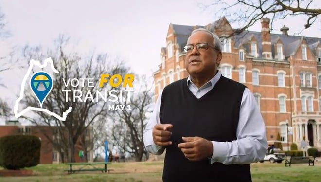 Howard Gentry in the new pro-transit ad.