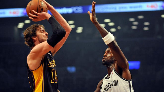 Pau Gasol (16) and the Lakers won for the fourth time in five games.