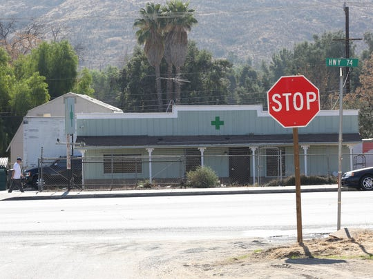 A marijuana dispensary without a visible name from