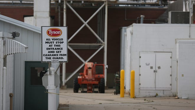 The shuttered Tyson meat processing plant sits empty on Wednesday, June 29, 2016, in Cherokee. City officials want to see another company in the space but has been blocked by Tyson.