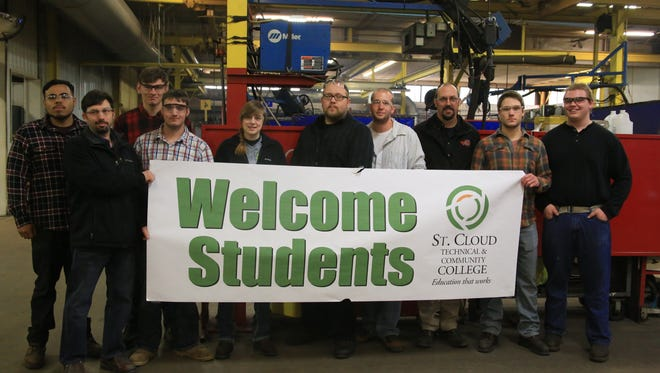 Students from the St. Cloud Technical & Community College welding/fabrication program toured Rotochopper in St. Martin in May.
