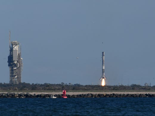 A SpaceX Falcon 9 rocket from Cape Canaveral launched