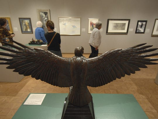 The Birds In Art exhibit is on display at the Leigh