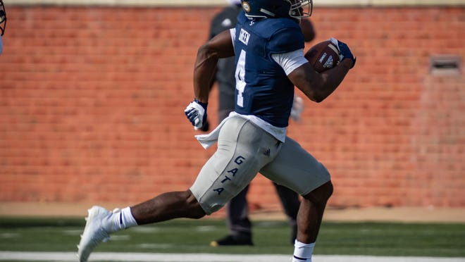 Georgia Southern redshirt freshman running back Gerald Green scored his first career touchdown on Saturday against Troy at Paulson Stadium in Statesboro. Georgia Southern won 20-13.