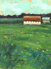En Route, 8 x 8 oil painting