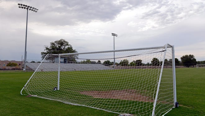 Soccer field at the High Noon soccer complex in Las Cruces.