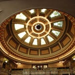 Inside the Mississippi Capitol building in Jackson, Miss.