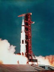 An Apollo launch.