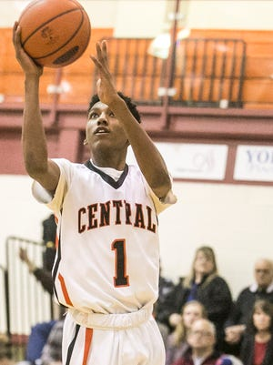 Central York's Courtney Batts is seen here earlier this season. The Panthers are one of three remaining Division I teams left in the Y-A League boys' tournament.