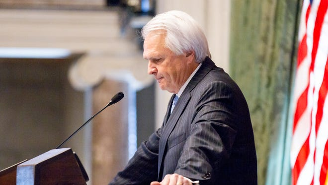 Senate Speaker Ron Ramsey, R-Blountville, presides over a Senate floor session in Nashville on Wednesday, March 16, 2016. Ramsey, who was a key figure in the Republican takeover of all three branches of state government, later announced that he will not seek re-election to another term.