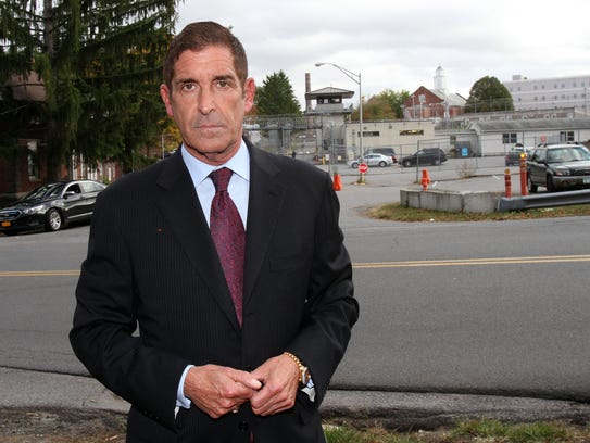 State Sen. Jeff Klein stands outside the Bedford Hills