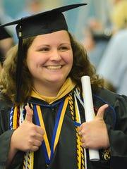 Kristen Cladek, a resident of Jackson, earned degrees