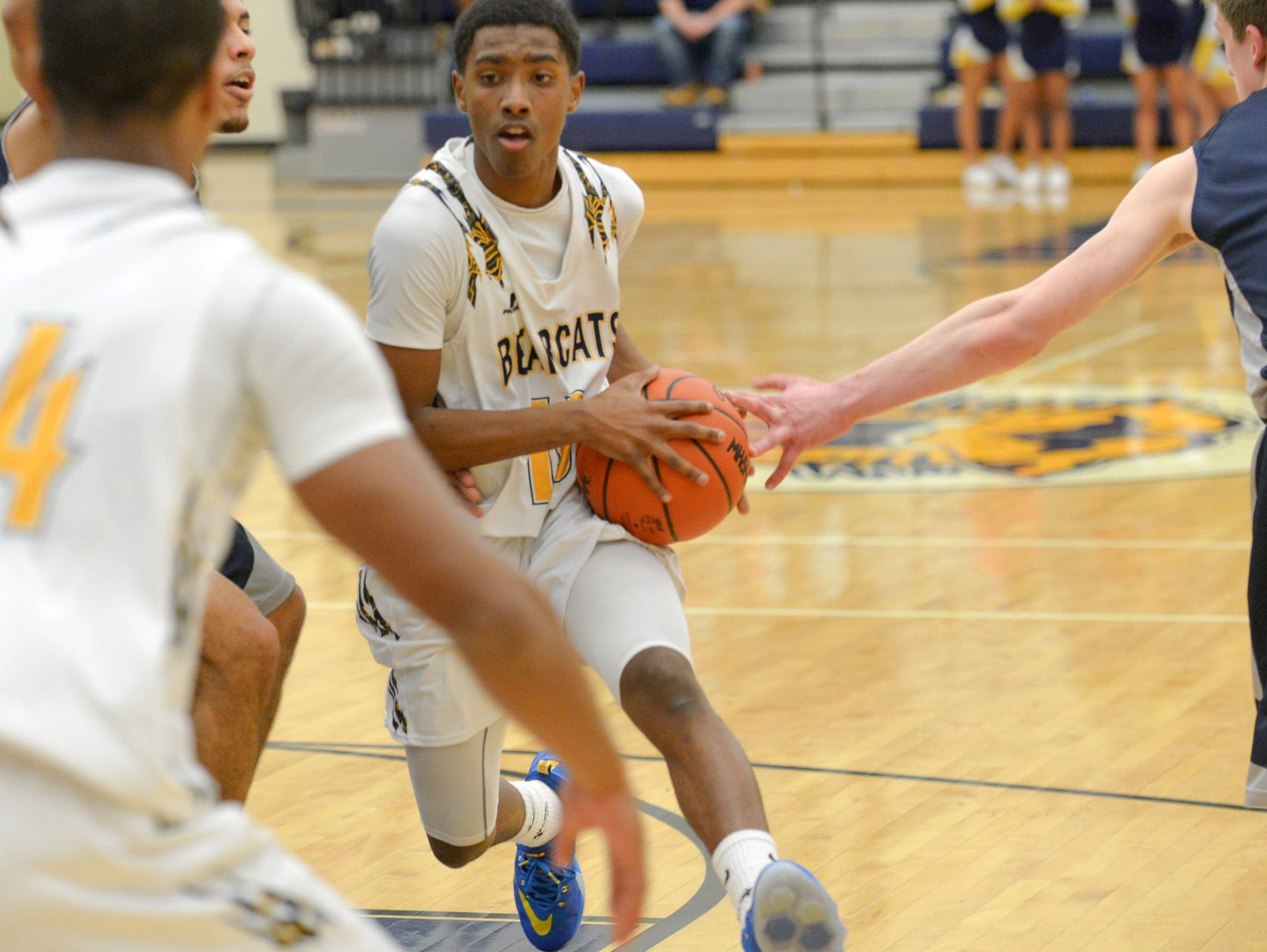 Central's Jahmiel Wade in game action Friday night.