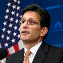 Ex-House Majority Leader Eric Cantor speaks in Washington D.C. in this file photo. He has taken an executive position at a global independent investment bank.
