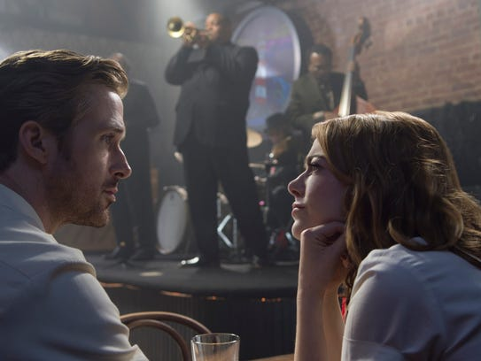 Ryan Gosling and Emma Stone in 'La La Land,' which