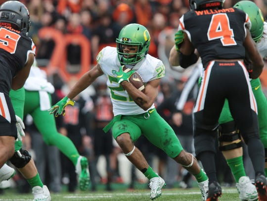 Oregon's Royce Freeman has rushed for 4,146 yards in