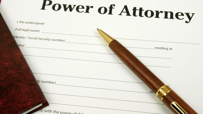 Power of Attorney, a legal document.