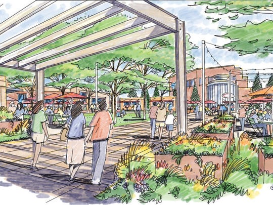 The proposed plaza at The Exchange, a redevelopment