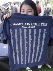 A Champlain College graduation shows off her Class