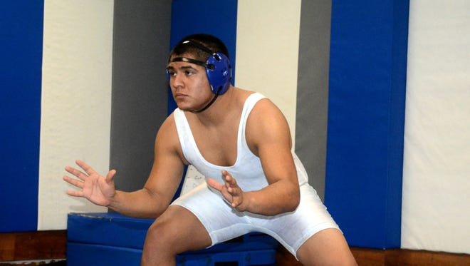 Cavemen senior wrestler Adrian Flaco has been a sturdy competitor on the mat.