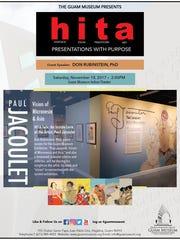 Guam Museum flyer for November, 2017, HITA presentation