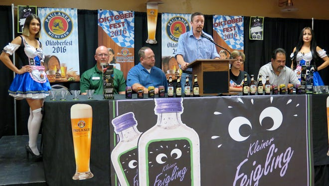 Marco Andresen, center, and other organizers of the Authentic El Paso Oktoberfest announce Thursday that the third annual festival will take place Sept. 16-18 at the El Paso County Coliseum.
