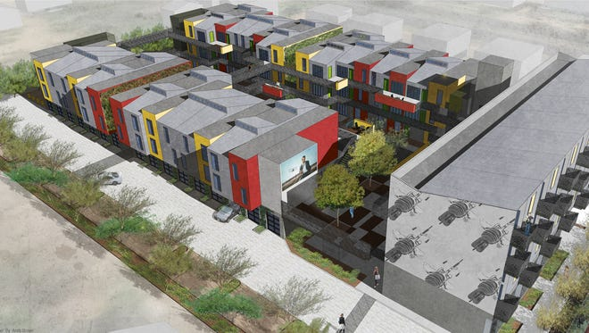 A rendering of Mesa Artspace Lofts, set to begin construction in late 2016.