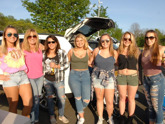 Fans at Dierks Bentley season opening concert  at the PNC Bank Arts Center in Holmdel in May, 2016.