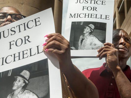 Michelle Cusseaux rally
