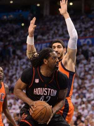 Nene had a team-high 28 points in the Rockets' Game 4 win over the Thunder.