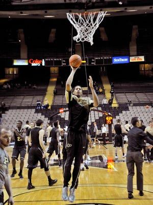 Purdue junior center A.J. Hammons (20) warms up before playing Vanderbilt on Saturday. Hammons' production has not been what he or the Boilermakers expected so far this season.