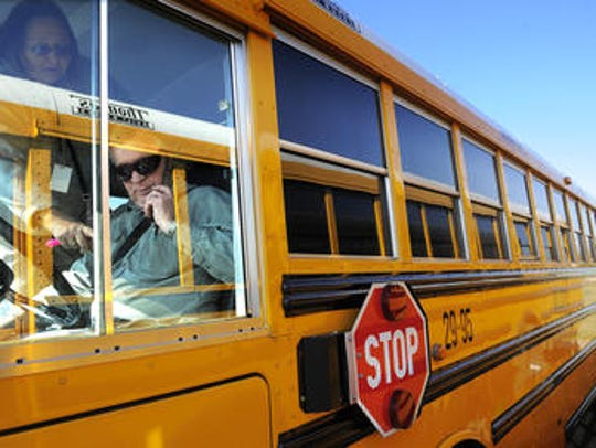 Seeing buses? Don't fret - school isn't back in session.