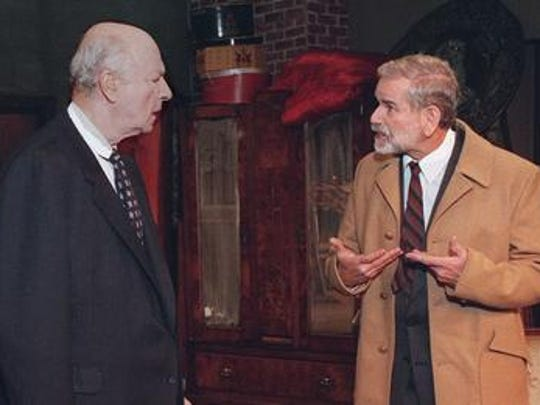 """Ted Nuehoff, left,  Bob Murken perform in Arthur Miller's """"The Price"""" during a performance at the Antrim Playhouse in 1998"""