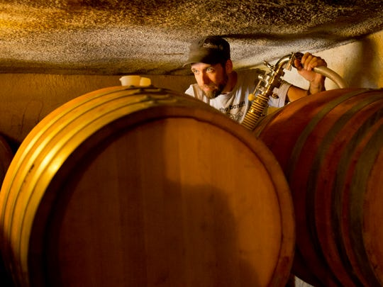 George Nosis of Ithaca, the assistant winemaker at