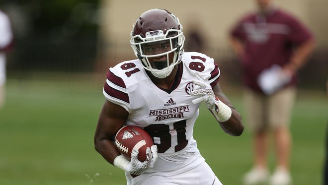Mississippi State's Justin Johnson returns as the team's most experienced tight end despite being a true sophomore.